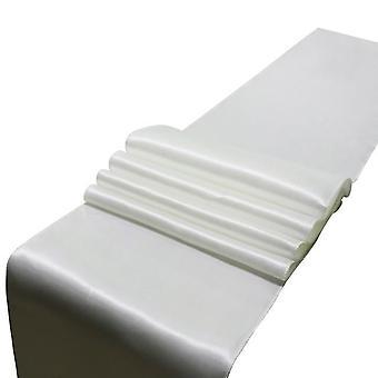 30cm X 275cm العدائين طاولة الساتان لحفل الزفاف الديكور الحديثة