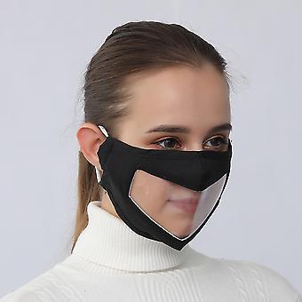 قناع الوجه المضادة للضباب أقنعة الوجه اليومي للصم وضعاف السمع واقية تغطي قابلة للغسل قناع الفم القابلة لإعادة الاستخدام