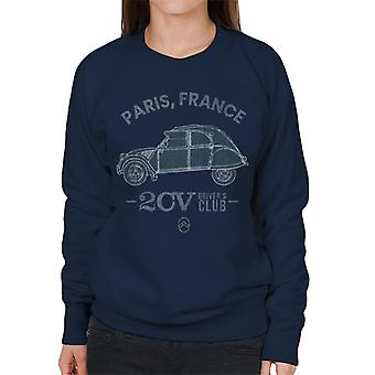 Citro?n 2CV Drivers Club Paris France Women's Sweatshirt