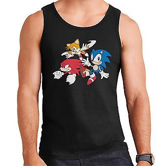 Sonic Siili rystyset ja hännät Men's Liivi