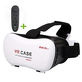 Virtual Reality Headset For 3d Movie Video Gamer With Controller