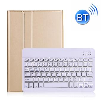 A870 Pour Samsung Galaxy Tab S7 T870/T875 11 pouces Détachable Clavier Bluetooth Ultrathin Horizontal Flip Leather Case with Holder & Bande élastique (Or)