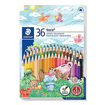 Staedtler 144 nd36 noris club coloured pencil, assorted colours, pack of 36 standard packaging