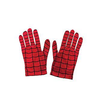 Rubie's offizielle kiid's Spiderman Handschuhe Kostüm - eine Größe, rot