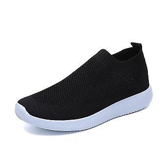 Frauen Sneakers, Socken Schuhe Casual, Sommer gestrickt