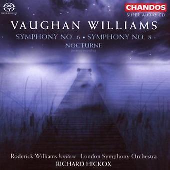 R. Vaughan Williams - Vaughan Williams: Symphony No. 6; Symphony No. 8; Nocturne [SACD] USA import