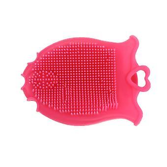 Silikon Fisch Form Massage Shampoo Kopf Pinsel Kamm