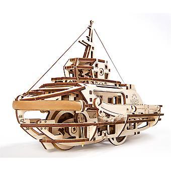 Tugboat UGears 3D Wooden Model Kit