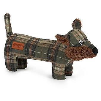 Heritage Tweed Fox Plush Dog Toy