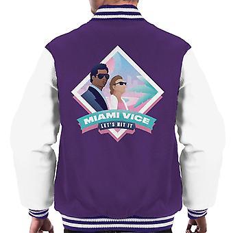 Miami Vice Lets Hit It Men's Varsity Jacket