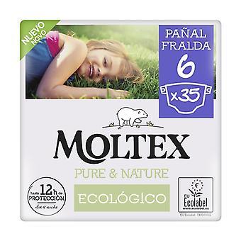 Moltex Pure & Nature T6 diapers (17-28 kg) 35 units