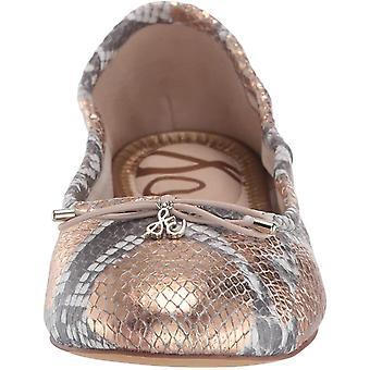 Sam Edelman Zapatos de Mujer's A4085LD Ante Cerrado Dedo Ballet Flats
