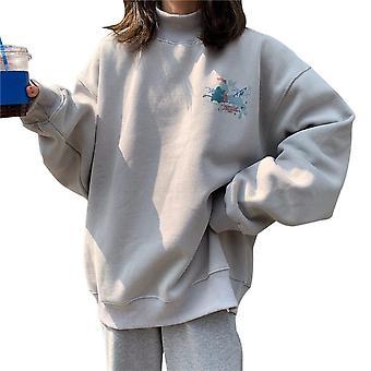 Mikiny Harajuku s potlačou Jednoduchý kórejský štýl Mikina Ženy's