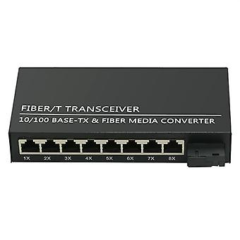 Fiber-Ethernet-Ports, optischer Transceiver Single-Mode, Media Converter Switch