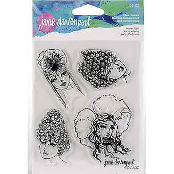 Spellbinders Jane Davenport Stamp - Flower Girls