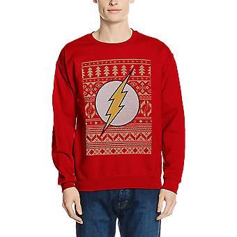 Flash Unisex Adults Fair Isle Logo Crewneck Sweatshirt