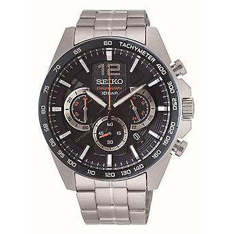 Klocka Seiko SSB345P1-SPORT kronograf/Dateur silver stålarmband