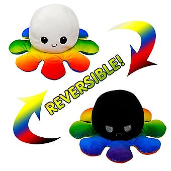 Reversible Octopus Doll Double-sided Flip Plush Toy Marine Life Color Cap