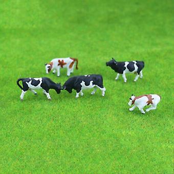 Värikäs lehmä malli juna layout rakennus lelu