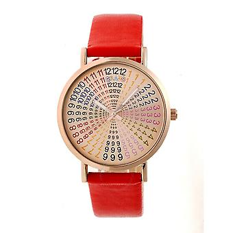 Crayo Fortune Rose Dial Red Leatherette Watch CRACR4305