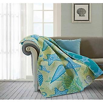 Spura Home Beach Dreams Novelty Quilted Transitional Throw