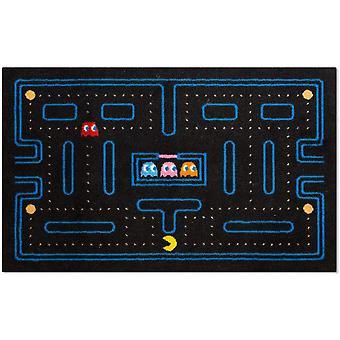 foot mat Pac-Man 45 x 70 cm rubber/polyester black