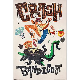 Crash Bandicoot Poster Adventures 91.5 x 61 cm