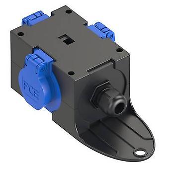 PCE 9430406 3 x Socket splitter Black, blå