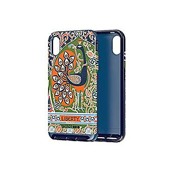 Tech 21 Evo Luxe Liberty Francis Protective Case for Apple iPhone XS Max - Blue/Orange