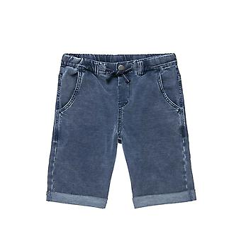 Alouette Boys' Bermuda Jeans With Rever And Lace In The Middle