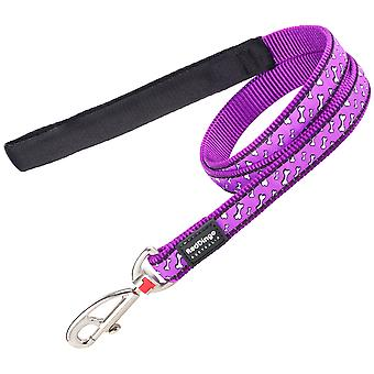 Red Dingo Style Flying Bones Leash Purple (Dogs , Collars, Leads and Harnesses , Leads)