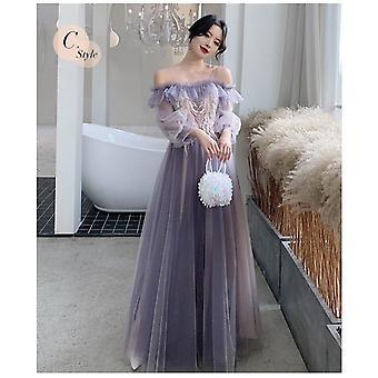 A-line Mismatched Prom Dress