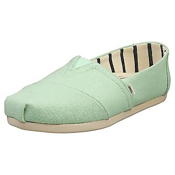 Toms Alpargata Heritage Womens Slip On Shoes in Pastel Green