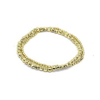 Boho betty sabal minor gold nugget stretchy bracelet set