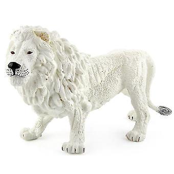 Valkoinen eläinpuisto leijona malli, villi metsäeläin varhaiskasvatus malli lelu az19533