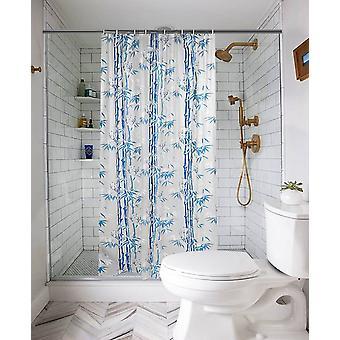 2 kpl vedenpitävä suihkuverho kylpyhuoneeseen, jossa 16 koukkua (asetettu sisältö