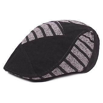 סתיו חורף שטוח כובע כומתה עבה כובע חם פסים