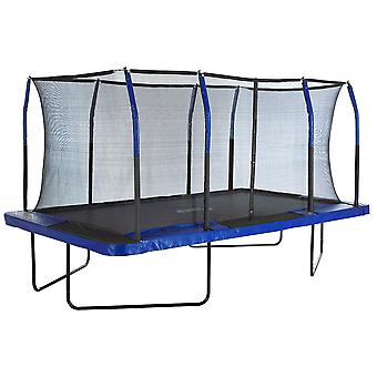 Upper Bounce Mega Large Rectangle Trampoline with Enclosure Net | Outdoor Garden