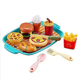 Hamburger kids kitchen pizza seafood toy set dt5208