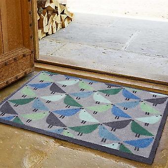 Lintu Bird Doormats By Scion In Blue Grey