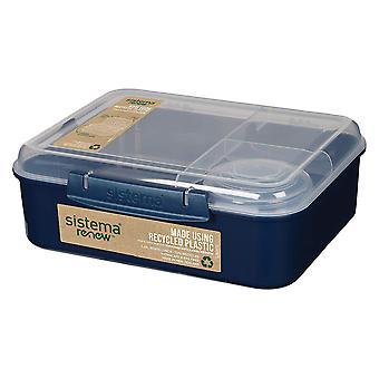 Sistema Renew Bento Lunch To Go, Dark Blue