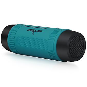 Haut-parleur Bluetooth avec support de vélo, haut-parleur Bluetooth Haut-parleur sans fil / 4000mAh Powerbank / Lumière LED / 29hrs autonomie AUX &SD support, Très utile pour les balades à vélo solo, Bleu émail