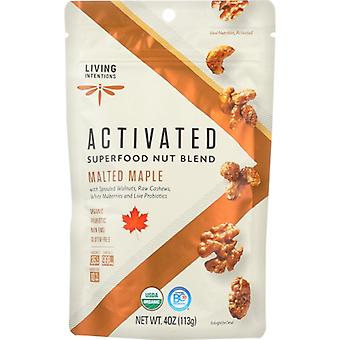 Living Intentions Nut Blend Malted Maple, Case of 6 X 4 Oz