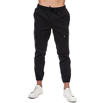 Pantaloni da uomo Jack Jones Hill Cargo Cuffed in Nero