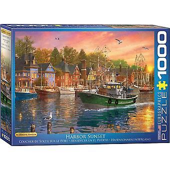 Eurographics Harbor Sunset Jigsaw Puzzle (1000 Pieces)