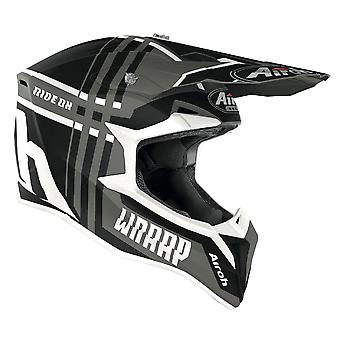 Airoh Wraap Broken Off Road Motocross ATV Helmet Anthracite Matt Black