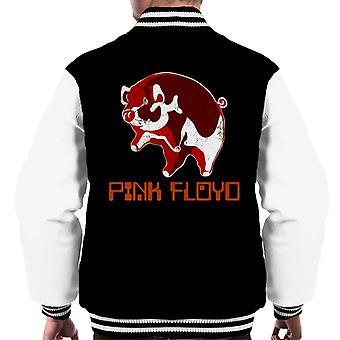 Vaaleanpunainen Floyd Ethic Pig Miesten varsity takki