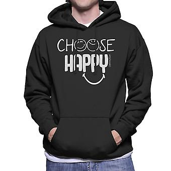 Smiley World Choose Happy Men's Hooded Sweatshirt