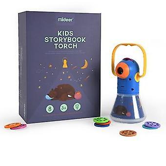 مصغرة جهاز العرض الشعلة، التربوية الخفيفة المتابعة، الأطفال مصباح يدوي كتاب القصة، النوم