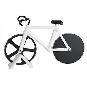 Bicycle Pizza Cutter Wheel Bike Slicer Dual Stainless Steel Cutting Knife Kitchen Utensils Baking Tools For Home